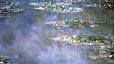 This is Claude Monet's <i>Nympheas</i>, an oil on canvas, which sold for $20.9 million 2000.