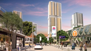 An artist's impression of high-rise towers near the new metro train station at Waterloo.
