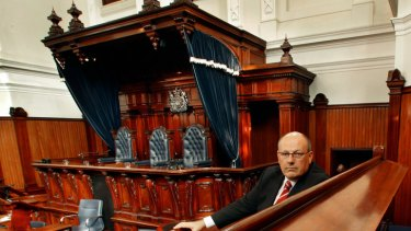 Professor James Ogloff in the jury box at the Supreme Court.