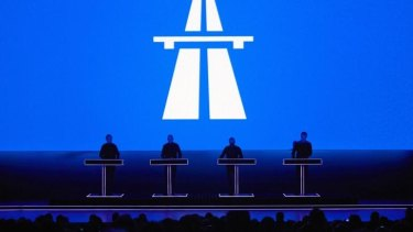 Kraftwerk performing live.
