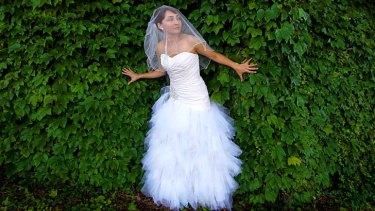 Distinctive voices: Sharon Millerchip in bride mode.