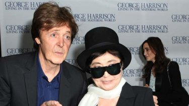 Eye to the past ... Ono with Paul McCartney last year.