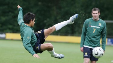 Better days: Kaz Patafta trains with the Socceroos ahead of the 2006 FIFA World Cup in Germany.