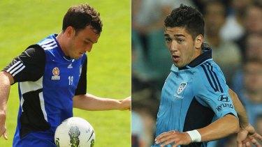 Part of Sydney FC's future ... Mark Bridge, left, and Dimitri Petratos.