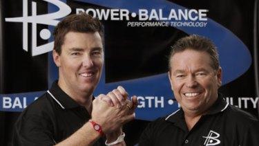 Power Balance Australasian importers Sean Condon (left) and Tom O'Dowd.