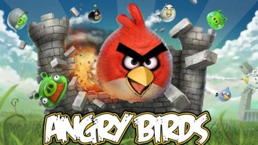 One of the most popular mobile apps ... Angry Birds.
