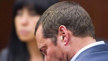 Guilty ... James Arthur Ray hangs his head as the verdicts are read.
