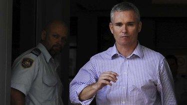 Craig Thomson leaves Wyong Court.