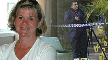 Victim ... Michelle Beets, and the path police suspect her killer took