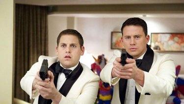 Hot fuzz ... Schmidt (Jonah Hill) and Jenko (Channing Tatum) on prom night.