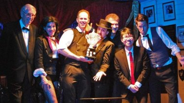 "Members of the WA Society of Magicians awarded its perpetual trophy to its ""most creative"" performer."