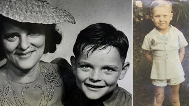 Crash victims: Liam O'Connor with his mother; and Graham Blair (right).