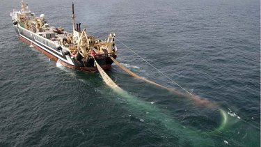 The super trawler is currently docked at Port Lincoln in South Australia and was poised to start fishing within days.