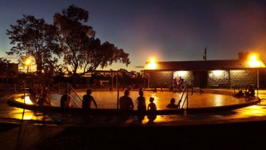The geothermal baths at Lightning Ridge, NSW are an attraction for locals and tourists alike.