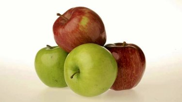 Losing their crunch: apples.