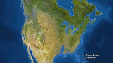 North America in an ice-free world.