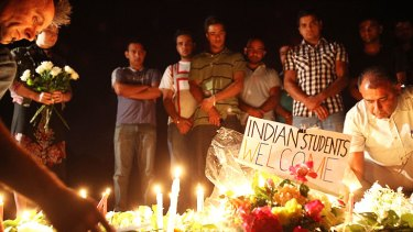 A vigil for Nitin Garg held in Melbourne's western suburbs in January 2010.