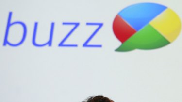 """Google co-founder Sergey Brin participates in a panel discussion about Google """"Buzz""""."""