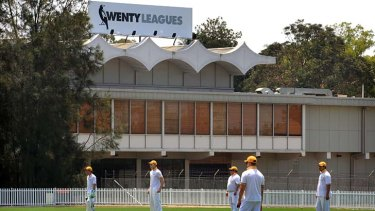 Good wicket … cricketers play at Ringrose Oval on Saturday. Wenty Leagues is upgrading the grandstand for more poker machines.