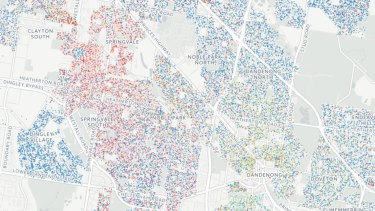 The language map of the Dandenong area.