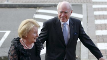 Unlikely praise ... Janette and John Howard.
