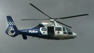 The police air wing pilot had to look away after twice being hit by the laser beam.