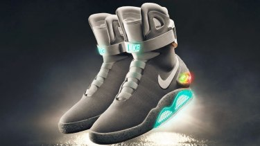 Nike's self-lacing shoes.