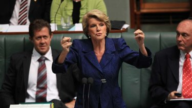 Deputy Opposition leader Julie Bishop - the other Bishop - moves to suspend standing orders.