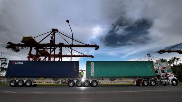 Container transport operators face CityLink toll increases of up to 125 per cent from April 1.