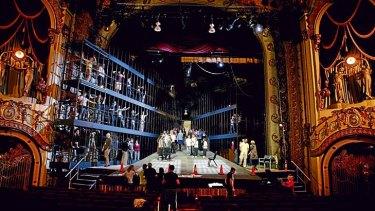 Breathtakingly beautiful art deco interior ... the State Theatre.
