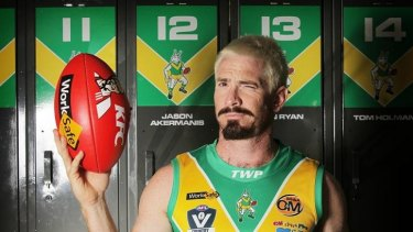 Triple Brisbane premiership winner Jason Akermanis took the Hoppers into the top five last year.