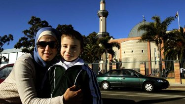 Dianne and her son Mustafa, 6, moved from Queensland so Mustafa could attend the school.
