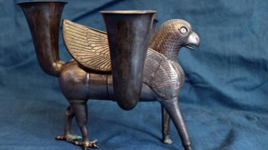 The vessel from ancient Persia, known as a rhyton, is believed to have been crafted in the 7th century BC.