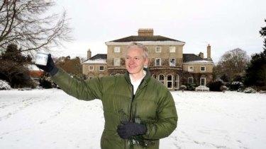 On thin ice ... Julian Assange.