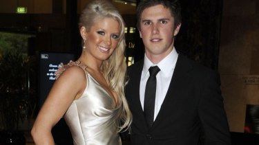 Melbourne woman Sarah Williamson, pictured with Carlton skipper and  then-boyfriend Marc Murphy at the 2008 Brownlow medal count.