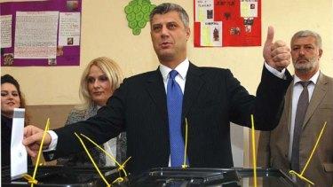Kosovo's Prime Minister Hashim Thaci ... casting his vote in November 2009.