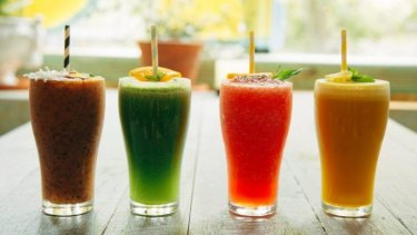 Cool stuff: Cold-pressed juices.