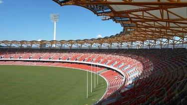 Metricon Stadium, home to the Gold Coast Suns AFL team.