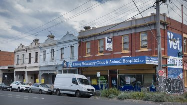 The proposed development site in North Fitzroy.