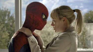Emma Stone and Andrew Garfield in <i>The Amazing Spider-Man</i>.