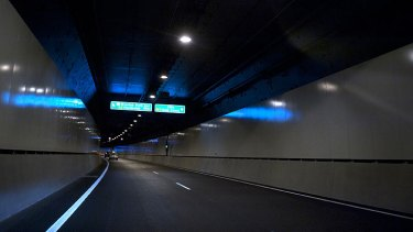 The Airport Link tunnel.