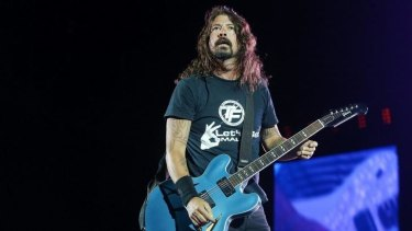 Charismatic frontman Dave Grohl leads the Foo Fighters through their set at Suncorp Stadium.