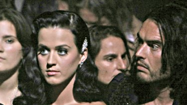 Spiritual hunger ... Katy Perry and Russell Brand.