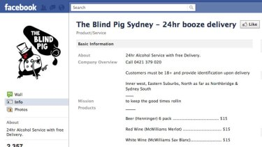 Cheap booze deals for Sydneysiders advertised on Facebook.