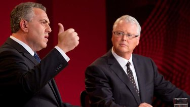 """""""We are thinking about the quality of life for Australians into the future is sustainable"""": Treasurer Joe Hockey answers questions on the ABC's live Q&A programme."""