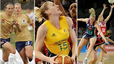 Largely ignored in the media ... the w-league Jets, basketball's Lauren Jackson and netball's Vixens and Swifts.