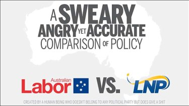 A Brisbane man says he has been threatened over a humorous website he created comparing ALP and Coalition policies.