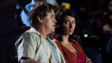 Wary woman: Dan Wyllie (Kane) and Veronica Milsom (Sue) in It's a Date, season two.