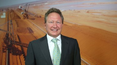 Fortescue Metals chairman Andrew 'Twiggy' Forrest.