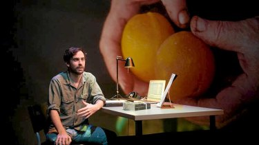 Jesse Cox in his play <i>Wael Zuaiter</i>.